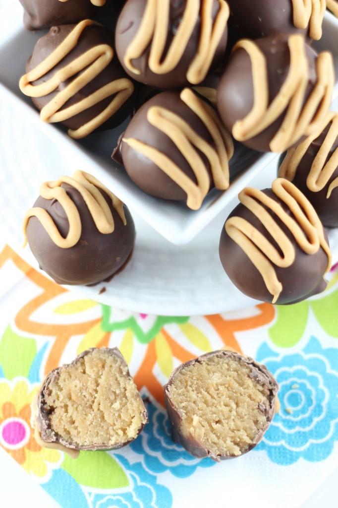 chocolate peanut butter cake truffles 5