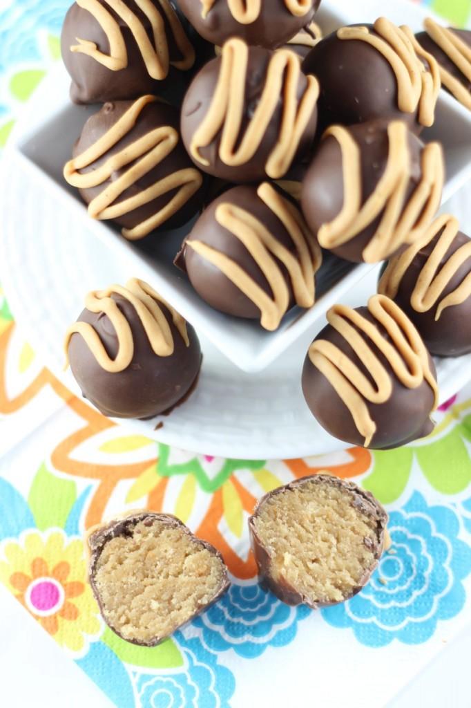 chocolate peanut butter cake truffles 7
