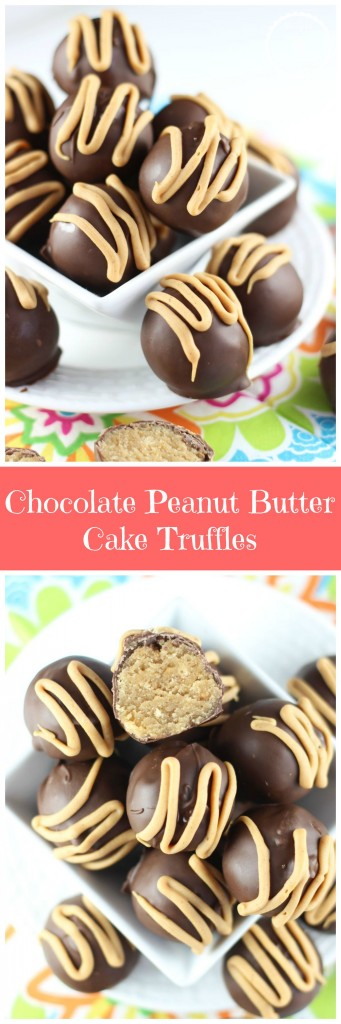 chocolate peanut butter cake truffles pin
