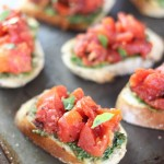 Bruschetta with Sunflower Seed Pesto
