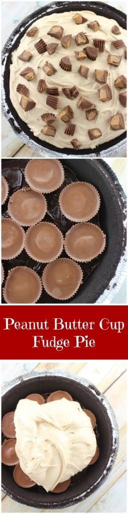 no bake peanut butter cup fudge pie pin
