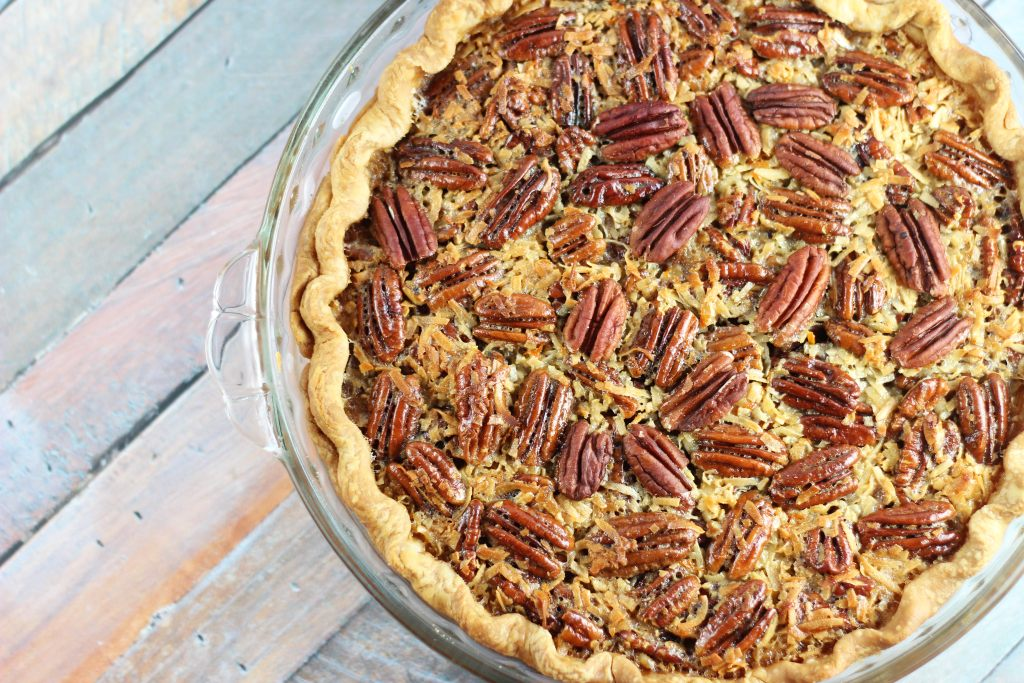 orange coconut pecan pie 1