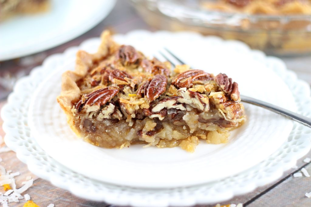 orange coconut pecan pie 14