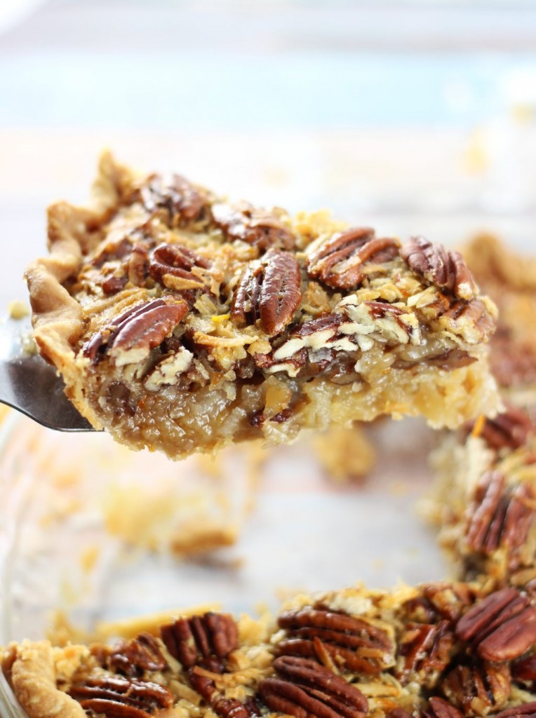 orange coconut pecan pie 7