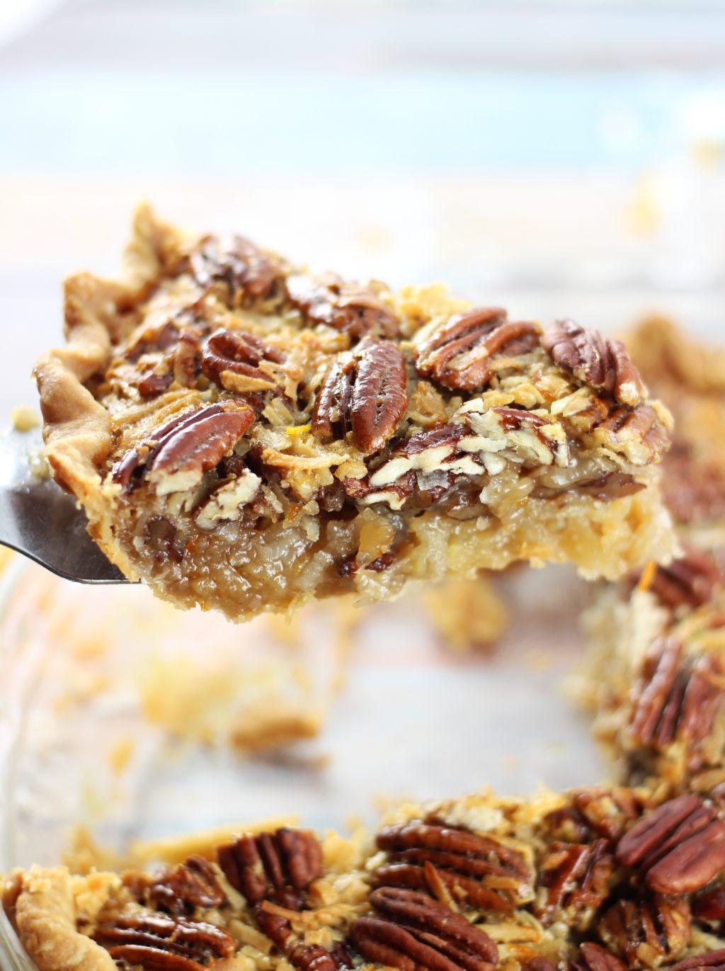 Traditional pec... Impossible Chocolate Coconut Pie Recipe