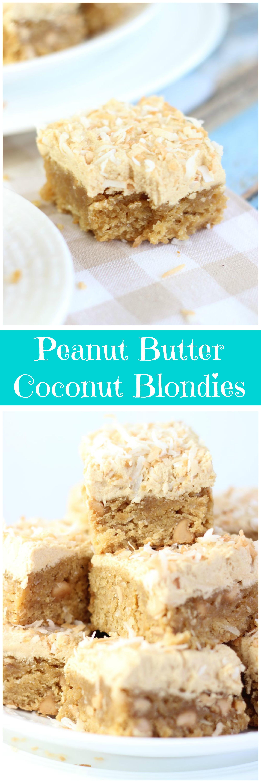 Peanut Butter Coconut Blondies