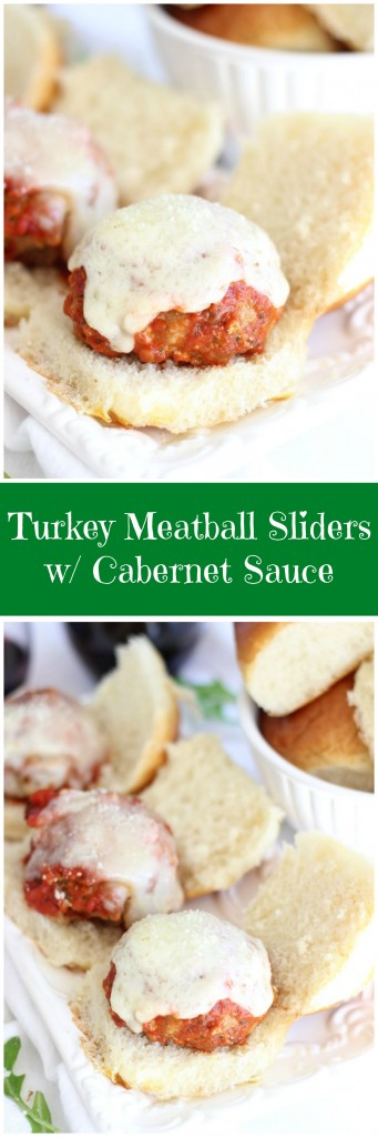 turkey meatball sliders with cabernet sauce pin