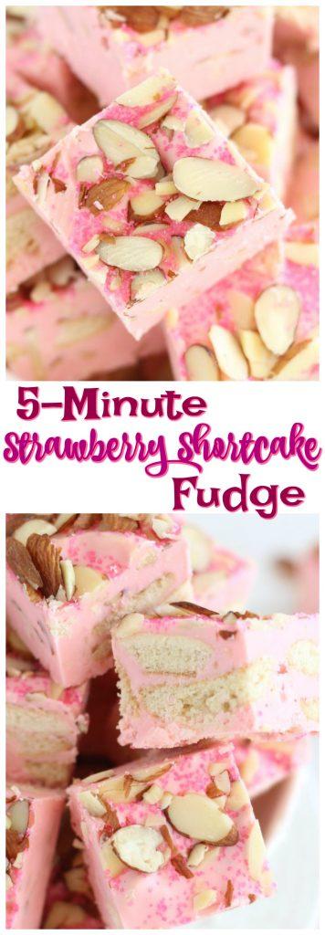 5-Minute Strawberry Shortcake Fudge pin