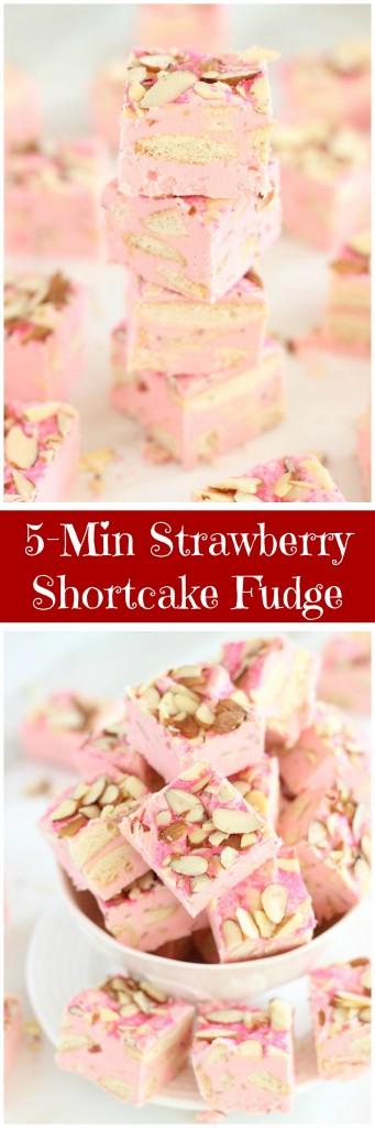 5 minute strawberry shortcake fudge pin