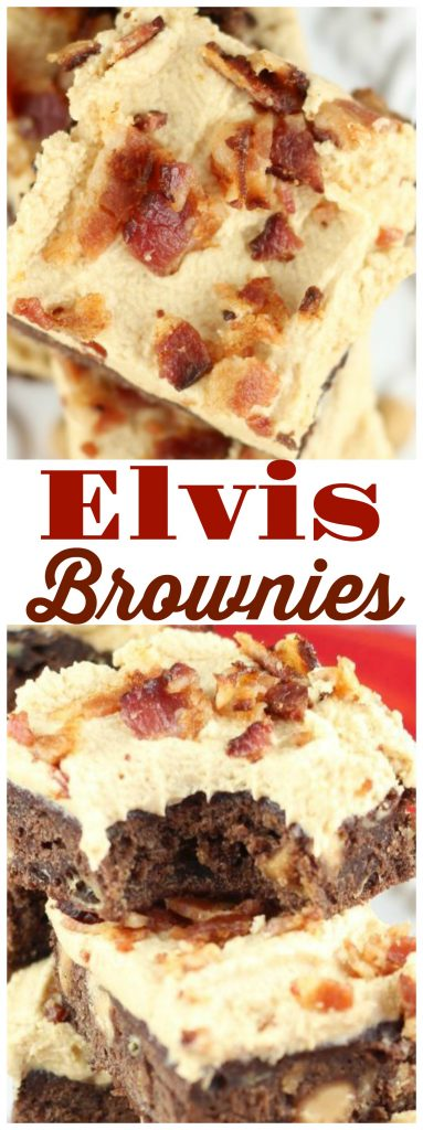 Elvis Brownies recipe image thegoldlininggirl.com pin 1