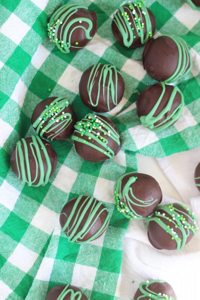 No Bake Thin Mint Truffles 9