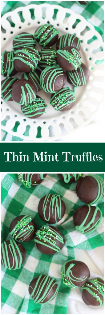 No Bake Thin Mint Truffles pin
