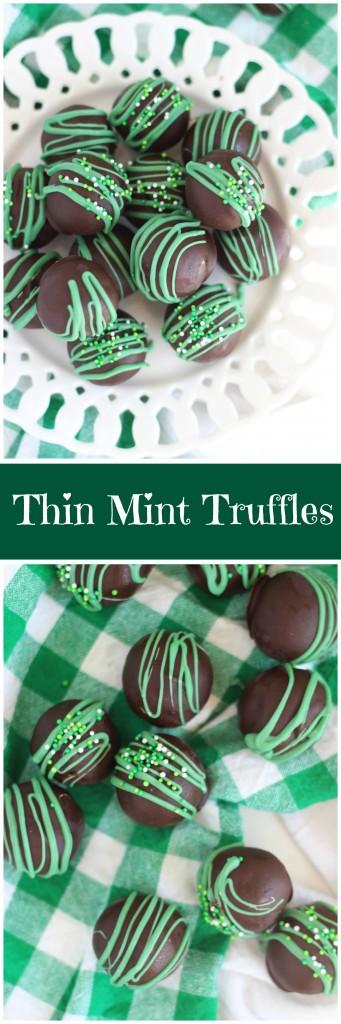No Bake Thin Mint Truffles pin
