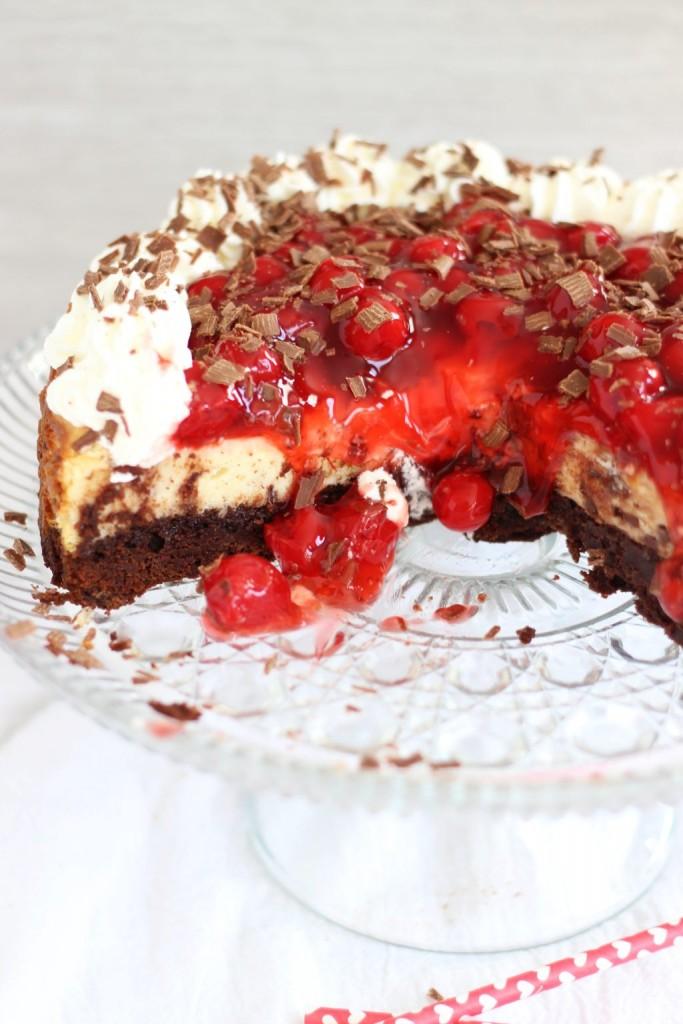 black forest brownie cheesecake 26