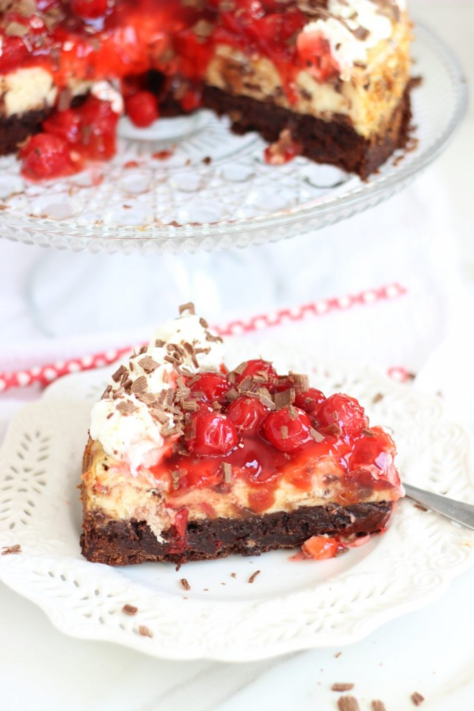 black forest brownie cheesecake 33