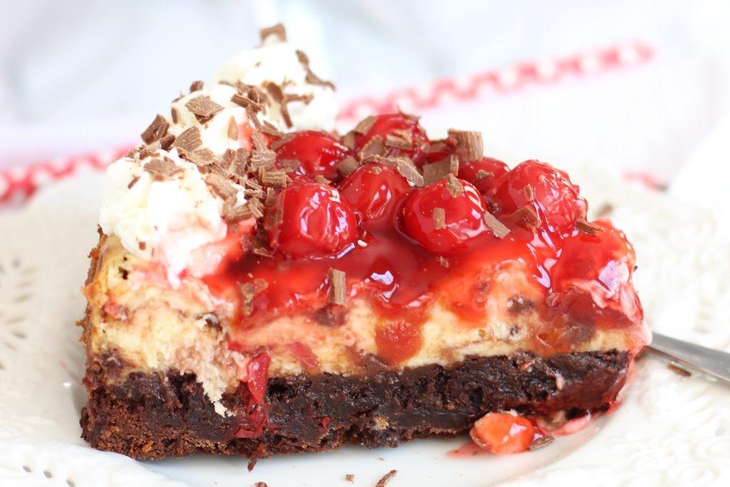 black forest brownie cheesecake 37