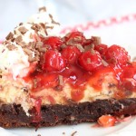Black Forest Brownie Cheesecake