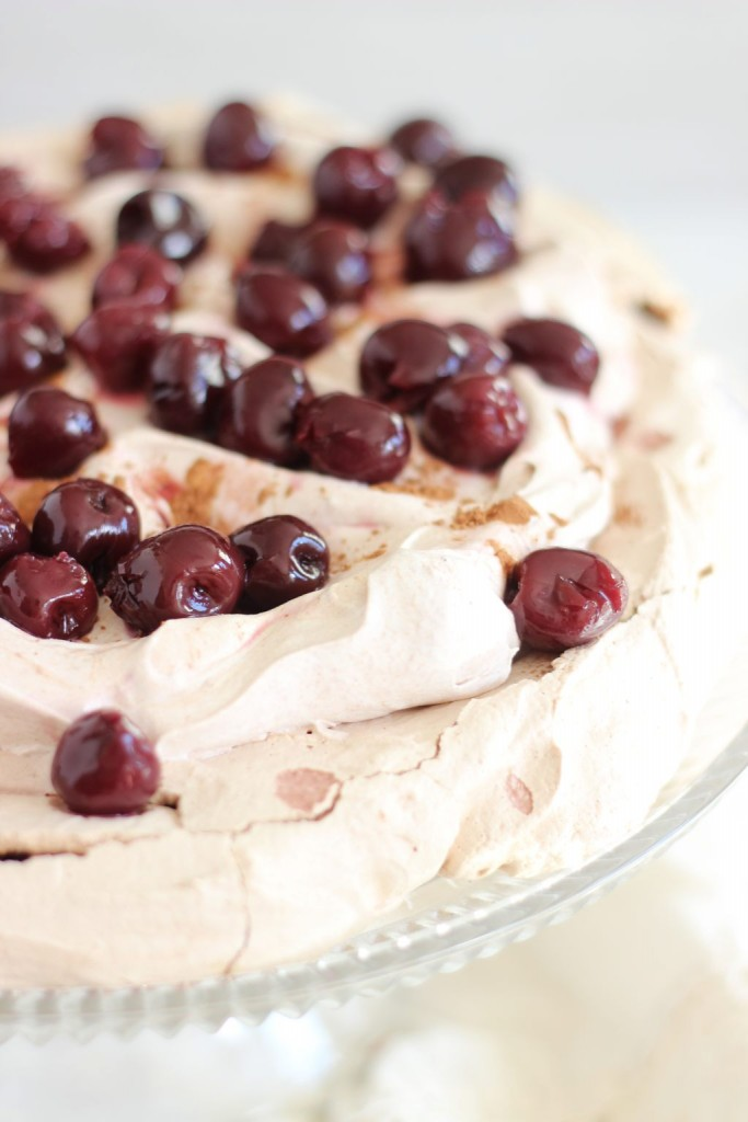 chocolate espresso black forest pavlova 16