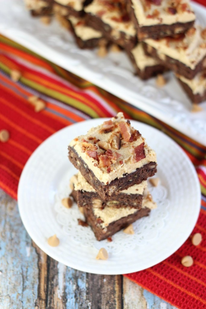 elvis brownies banana brownies with peanut butter frosting and bacon 4