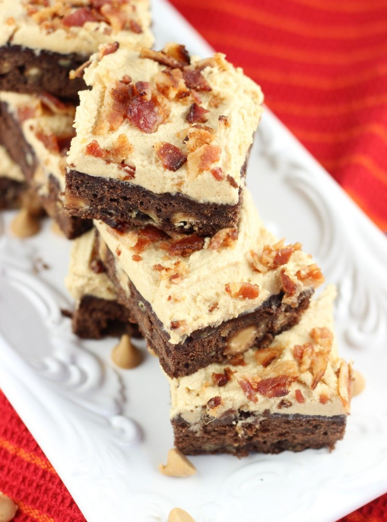 elvis brownies banana brownies with peanut butter frosting and bacon 8