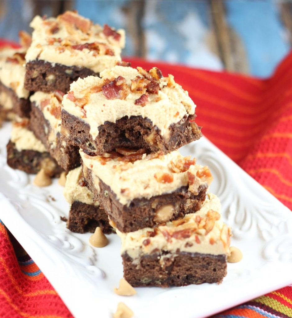 elvis brownies banana brownies with peanut butter frosting and bacon 9
