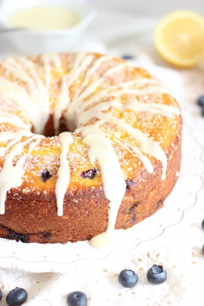 lemon blueberry bundt cake with lemon glaze 12
