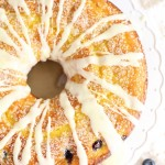 Lemon Blueberry Bundt Cake with Lemon Glaze