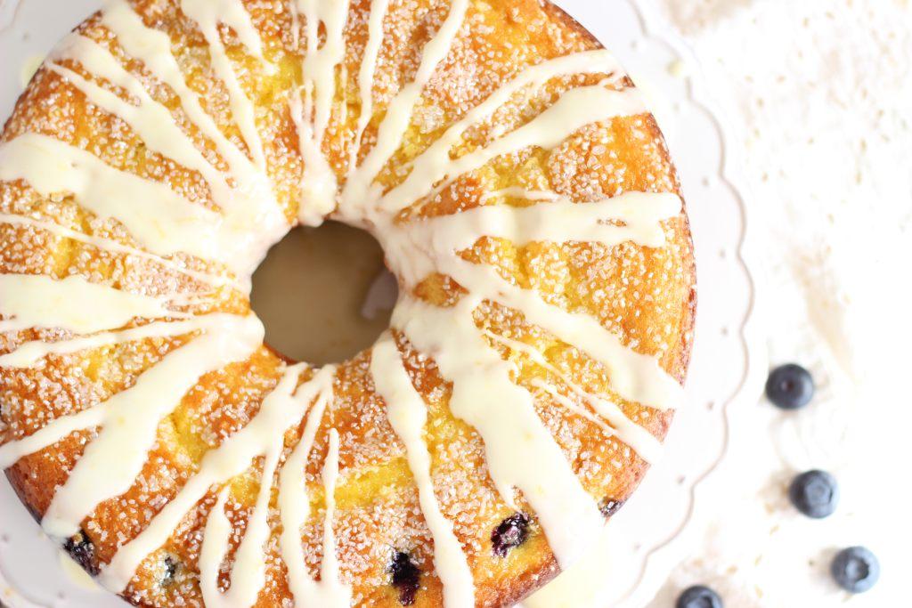 Lemon Blueberry Bundt Cake with Lemon Glaze