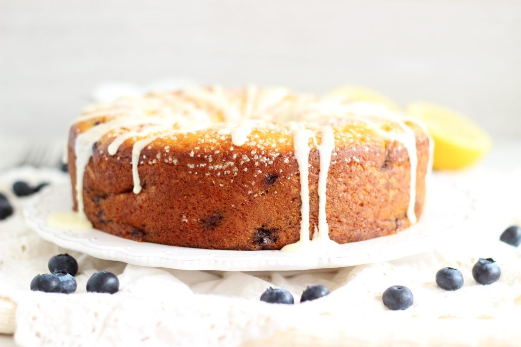 lemon blueberry bundt cake with lemon glaze 24