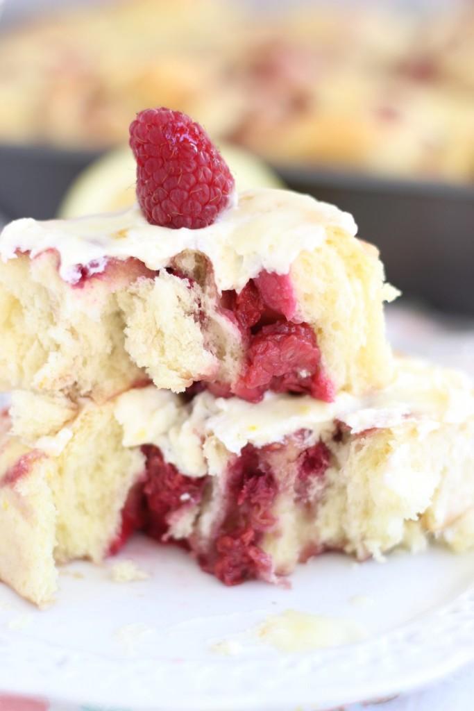 lemon raspberry sweet rolls with lemon mascarpone frosting 12