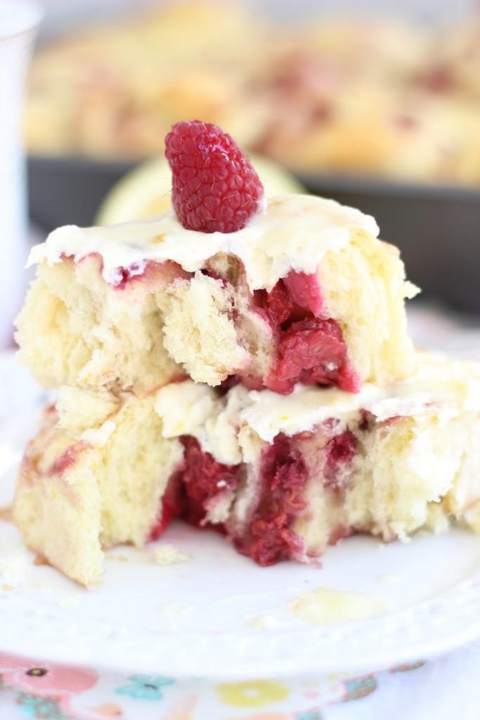 lemon raspberry sweet rolls with lemon mascarpone frosting 13