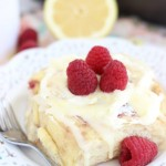 Lemon Raspberry Sweet Rolls with Lemon Mascarpone Frosting