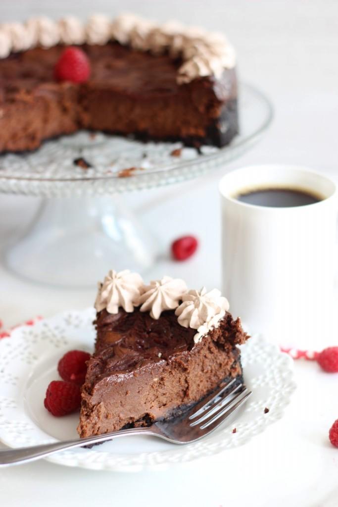 nutella espresso cheesecake with raspberry swirl 11