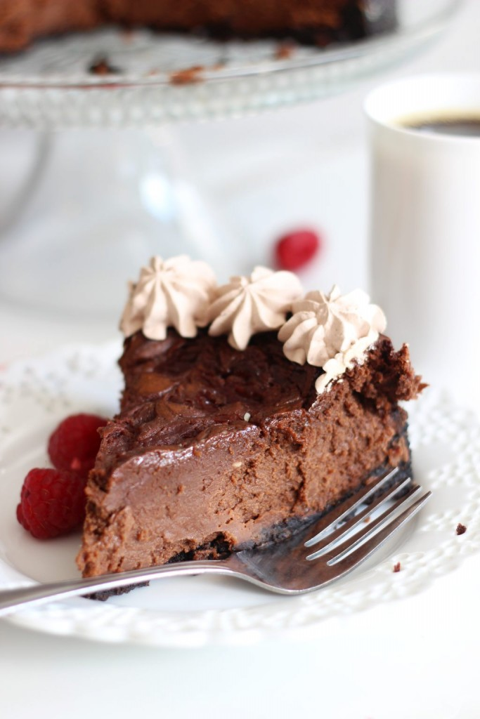 nutella espresso cheesecake with raspberry swirl 13