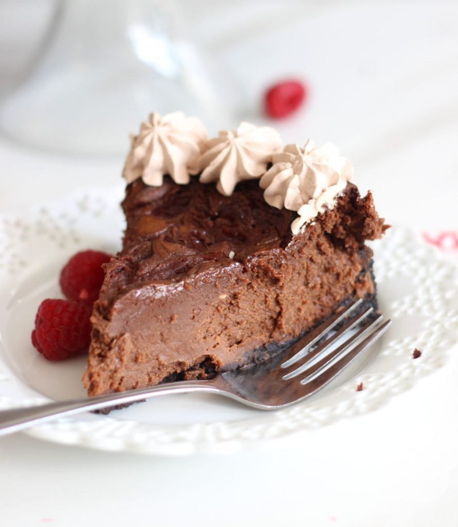 nutella espresso cheesecake with raspberry swirl 9