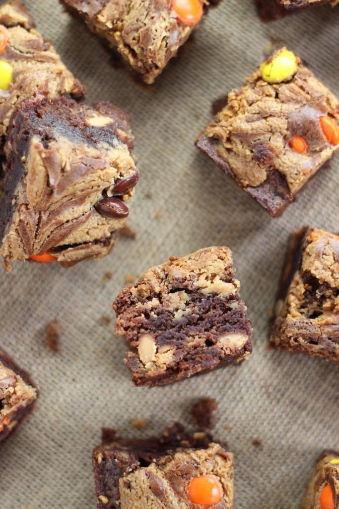 peanut butter swirl brownies 8