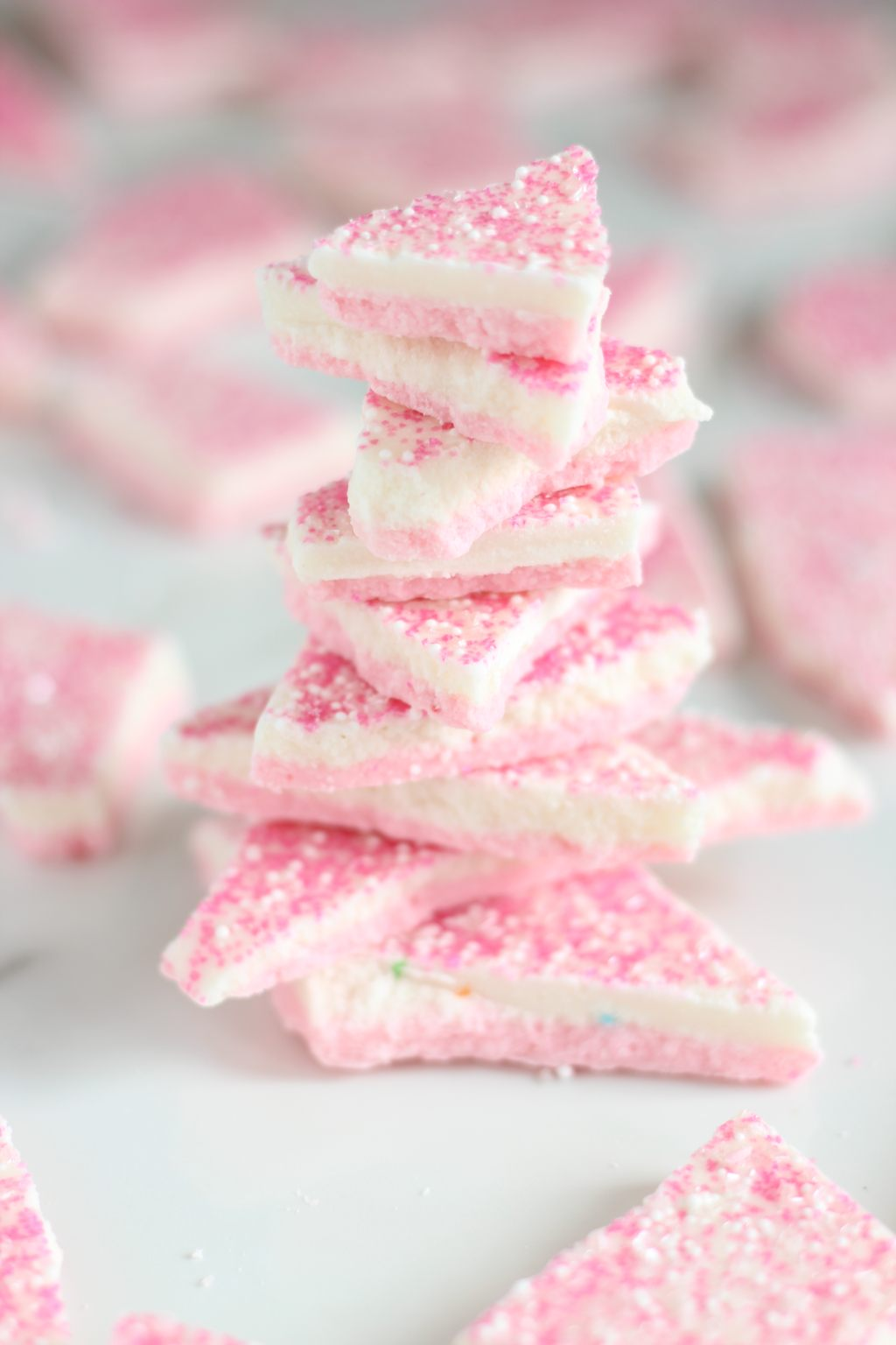 Strawberry Cake Batter Bark