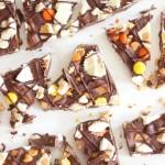 Triple Chocolate Ultimate Peanut Butter Cup Bark