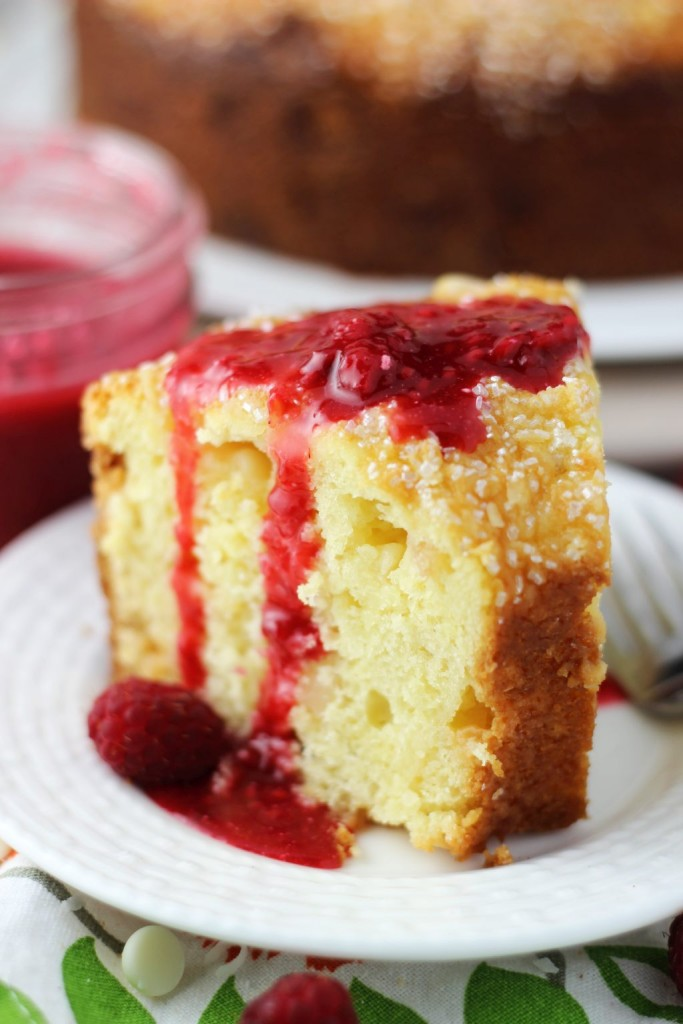 white chocolate macadamia coconut bread with raspberry syrup 12