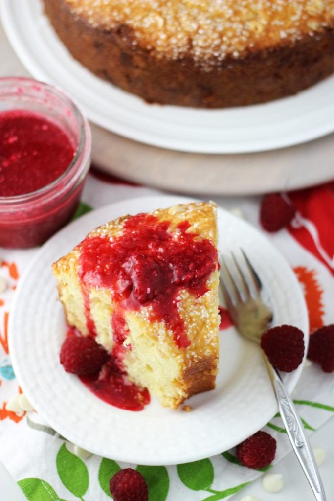 white chocolate macadamia coconut bread with raspberry syrup 16