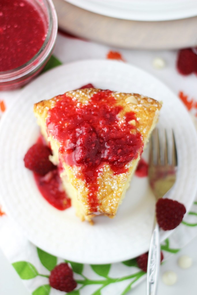 white chocolate macadamia coconut bread with raspberry syrup 20