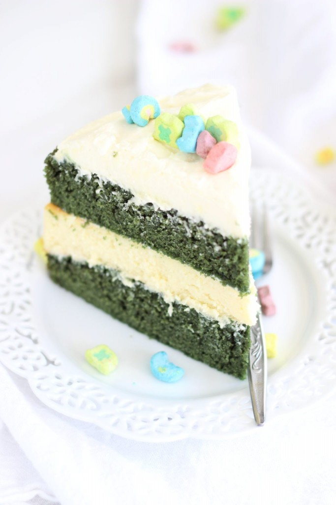 ... have hardly loved a cake more than this Green Velvet Cheesecake Cake