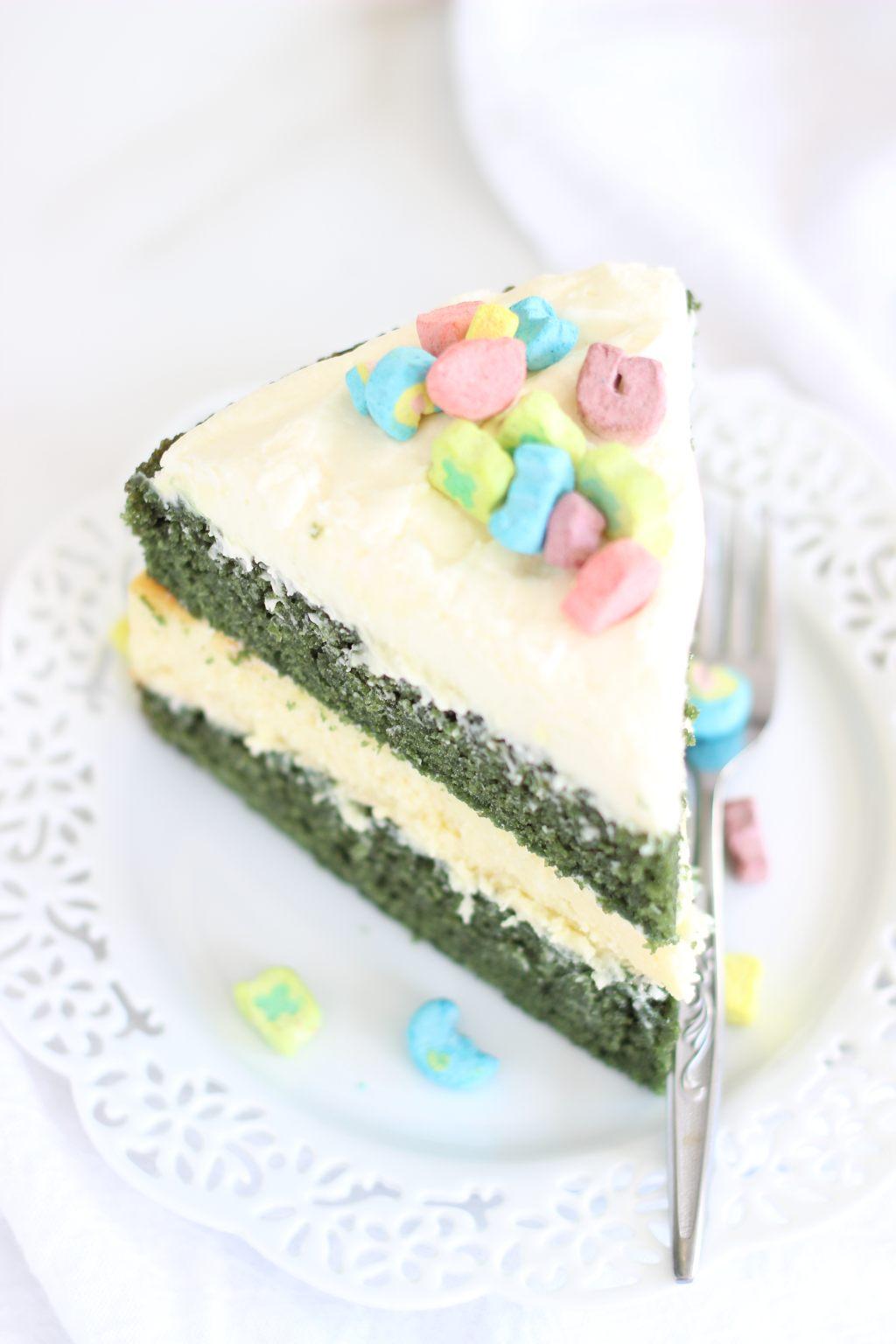 Green Velvet Cheesecake Cake