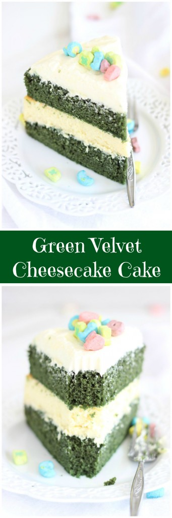 green velvet cheesecake cake pin
