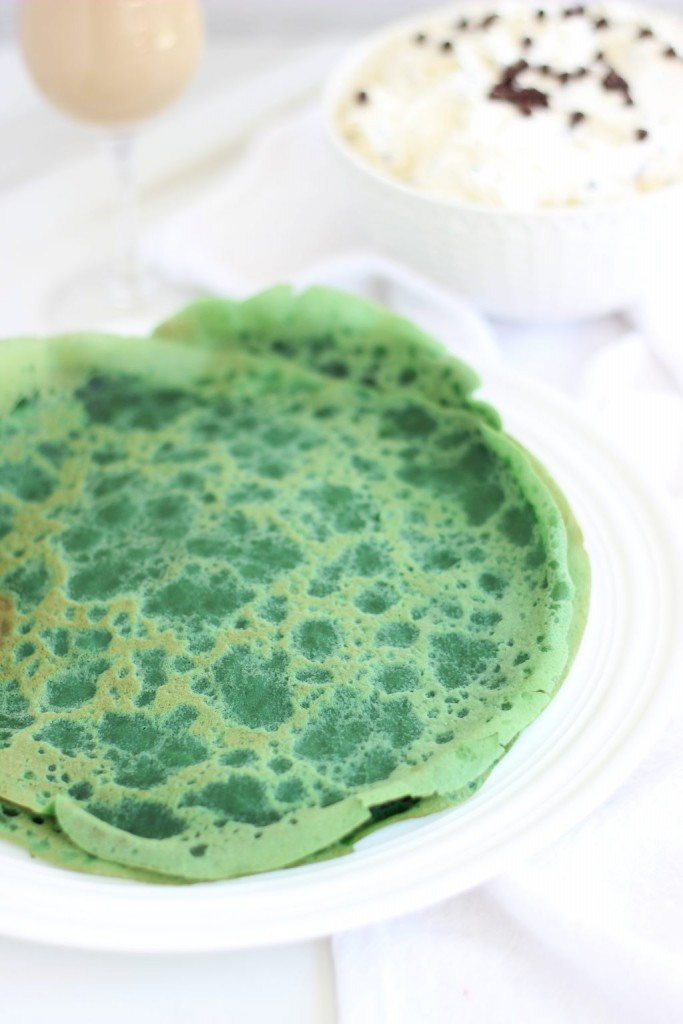 green velvet crepes with bailey's chocolate chip cheesecake filling 3