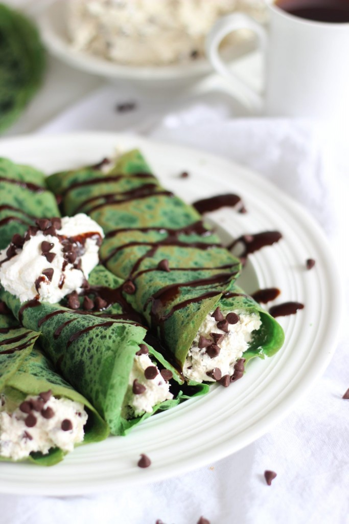 green velvet crepes with bailey's chocolate chip cheesecake filling 7