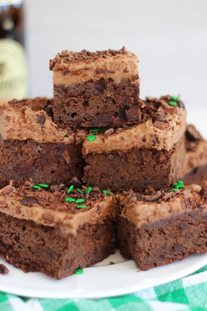 guinness brownies with mocha frosting 13