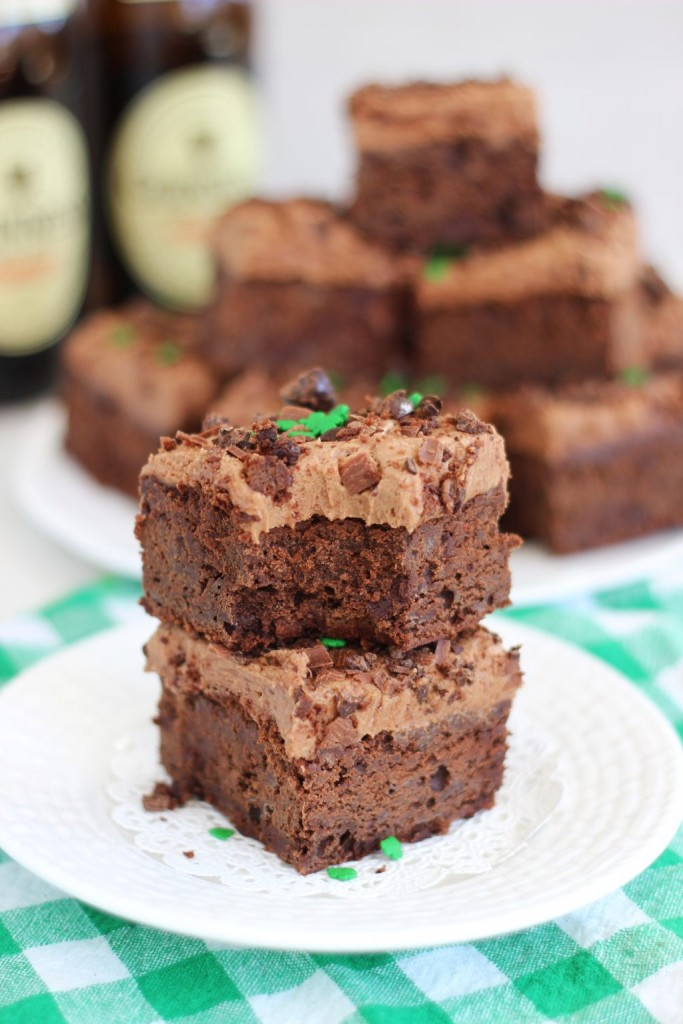 guinness brownies with mocha frosting 15