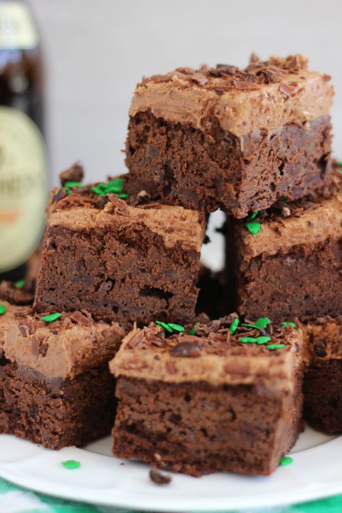 guinness brownies with mocha frosting 8