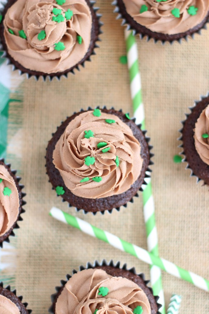 guinness chocolate truffle cupcakes with bailey's frosting 21
